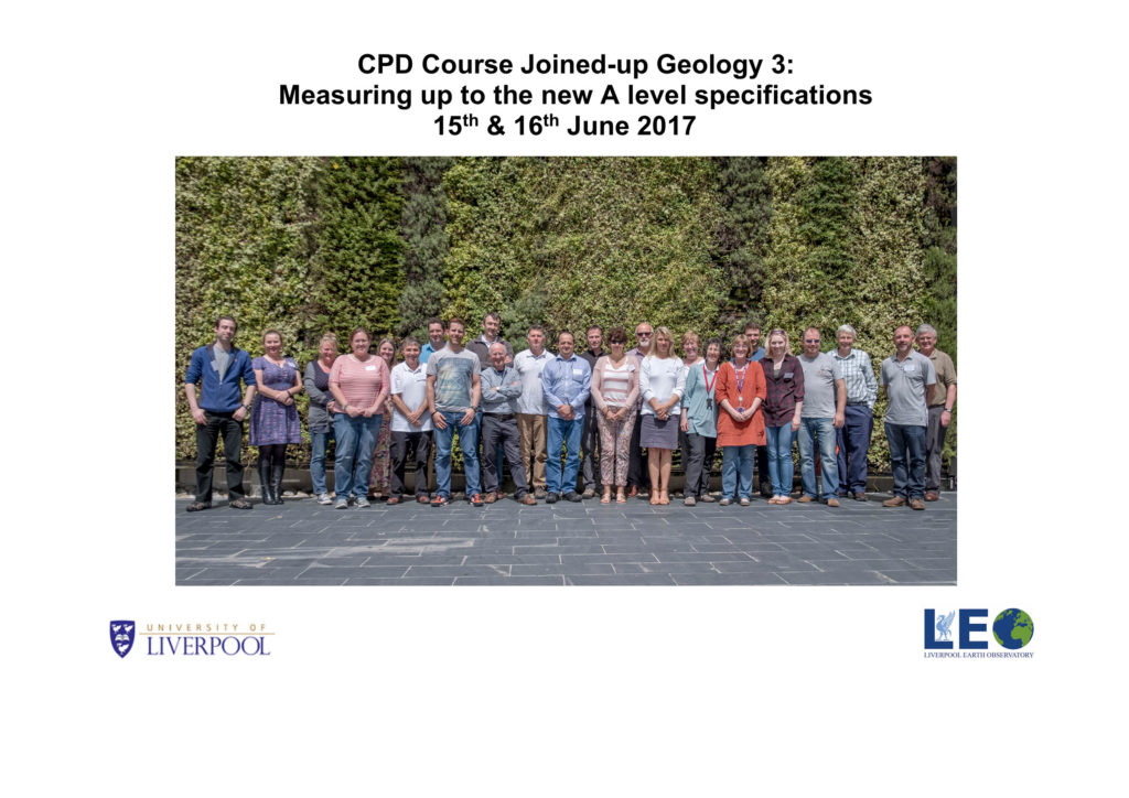 CPD Course Joined-up Geology 3: Measuring up to the new A level specifications - June 2017