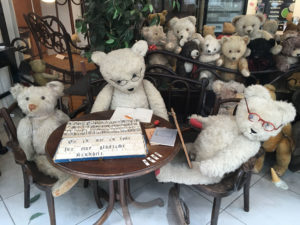 Teddy bears in shop display
